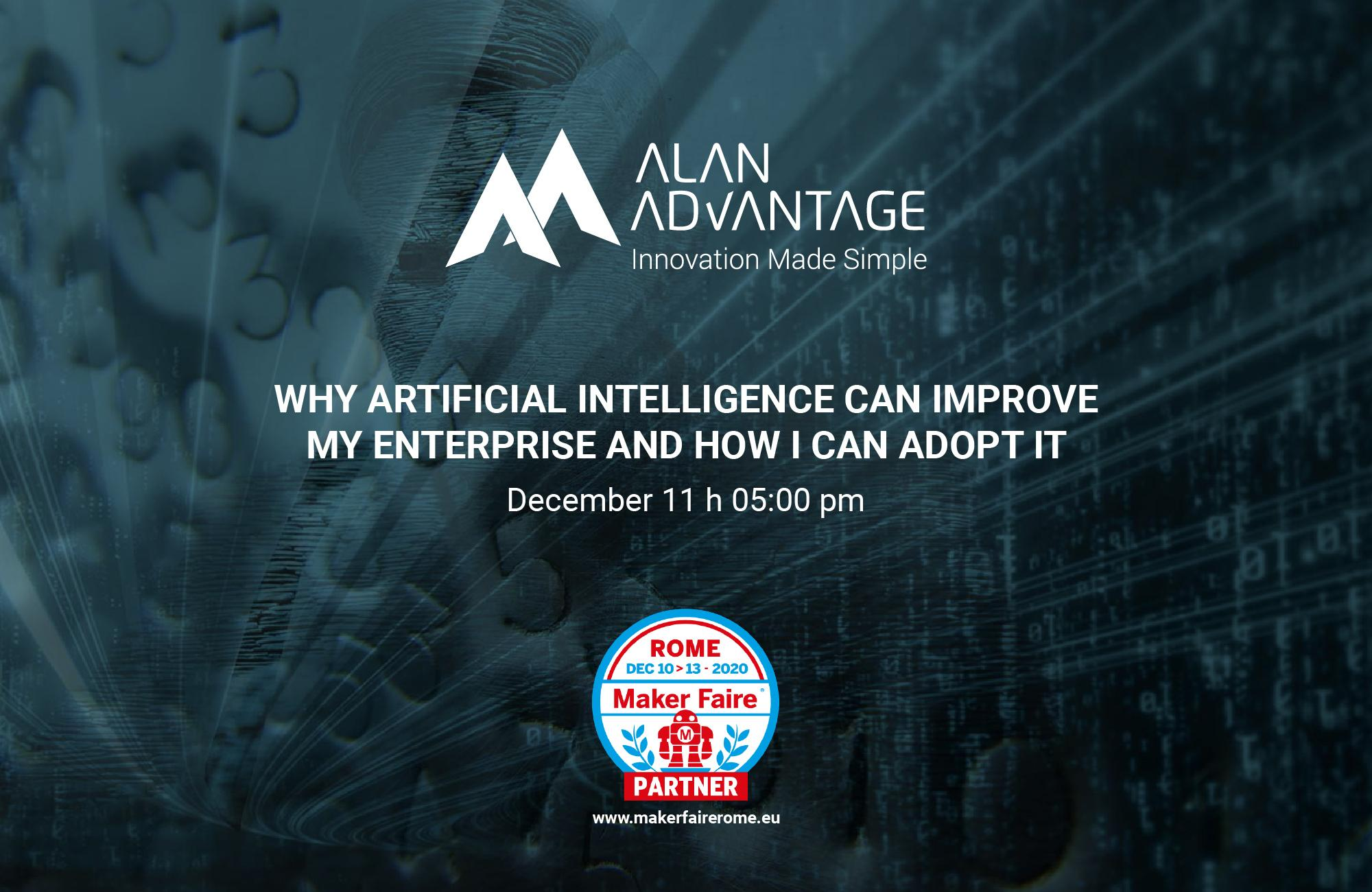 Alan Advantage - Why Artificial Intelligence can improve my Enterprise and how I can adopt it