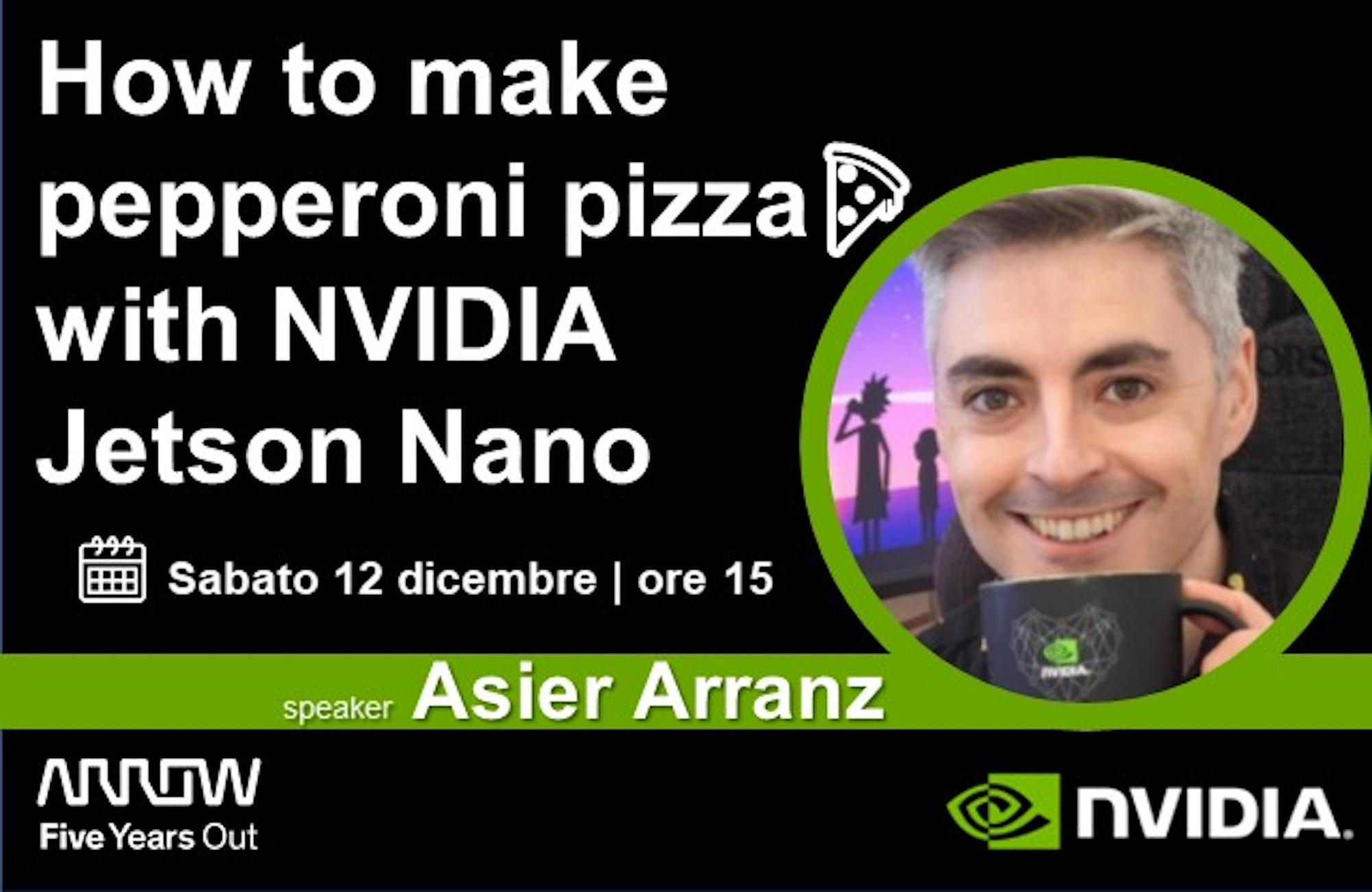 How to make pepperoni pizza 🍕 with NVIDIA Jetson Nano