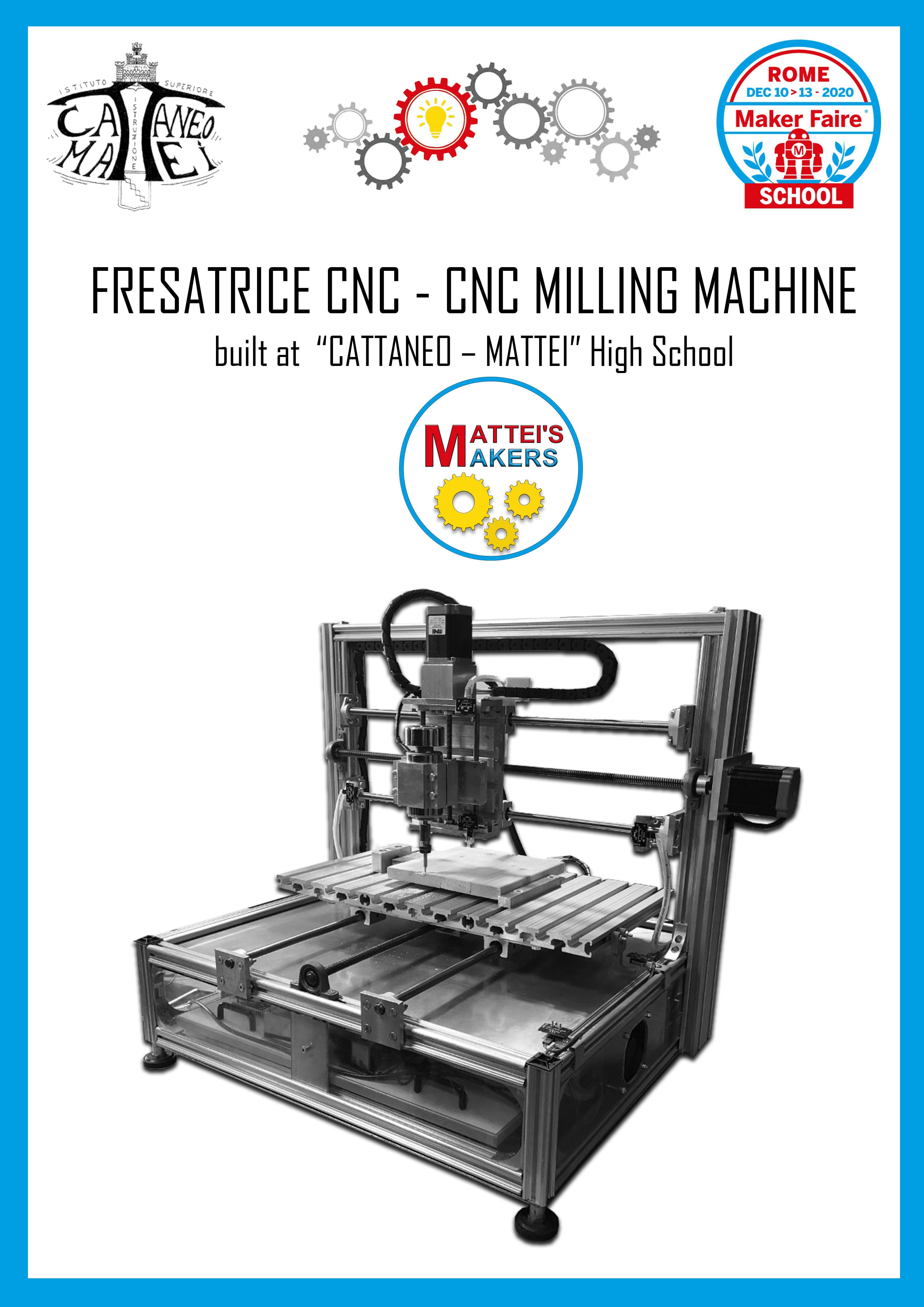 Fresatrice CNC costruita interamente a scuola dall'indirizzo tecnico di Meccanica Meccatronica istituto Mattei di Conselve (Padova)