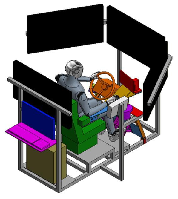"""Simulatore di un trattore agricolo per ricerche di """"agricoltura di precisione"""""""