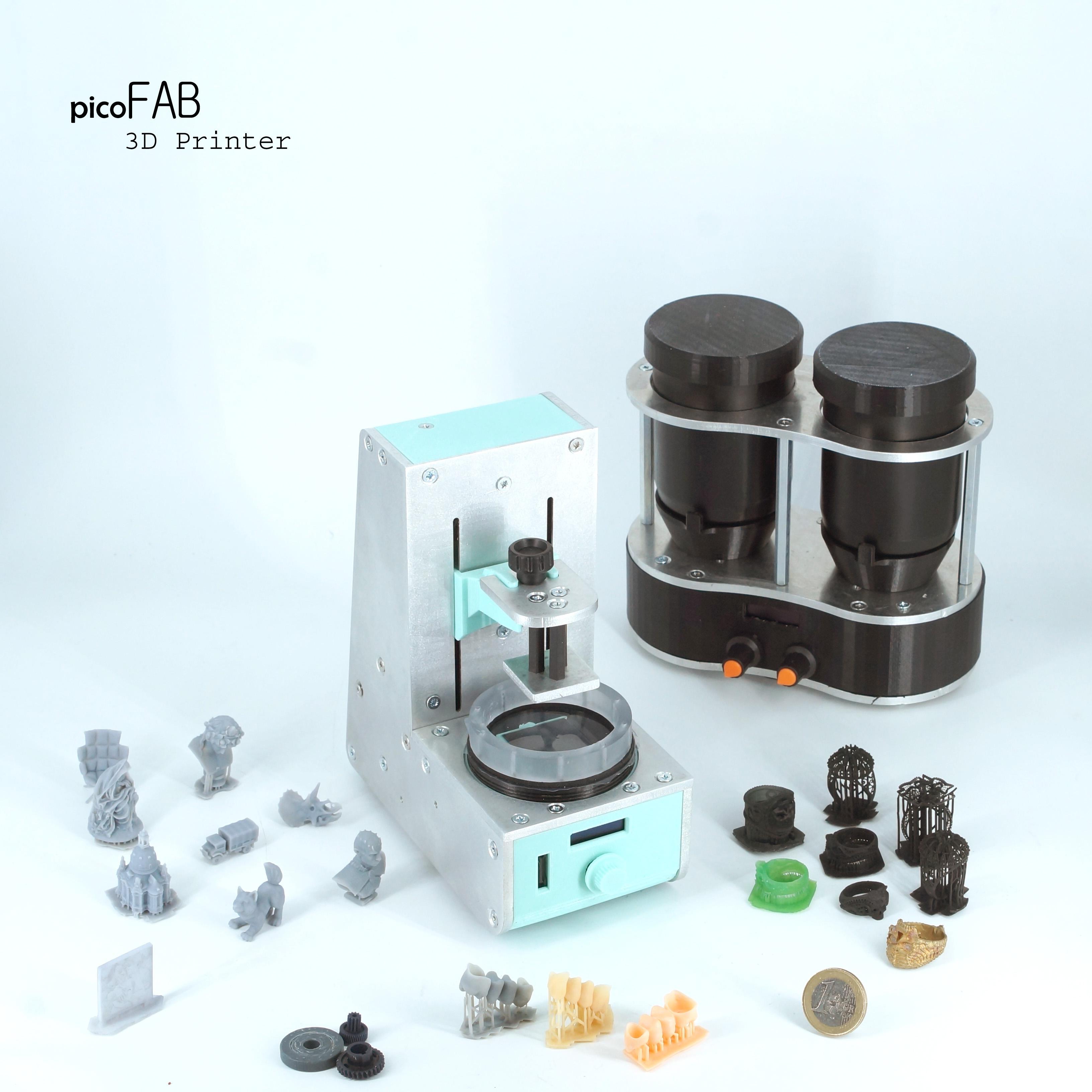 PicoFab: la piu' piccola stampante 3D a resina, per realizzare piccole parti di precisione