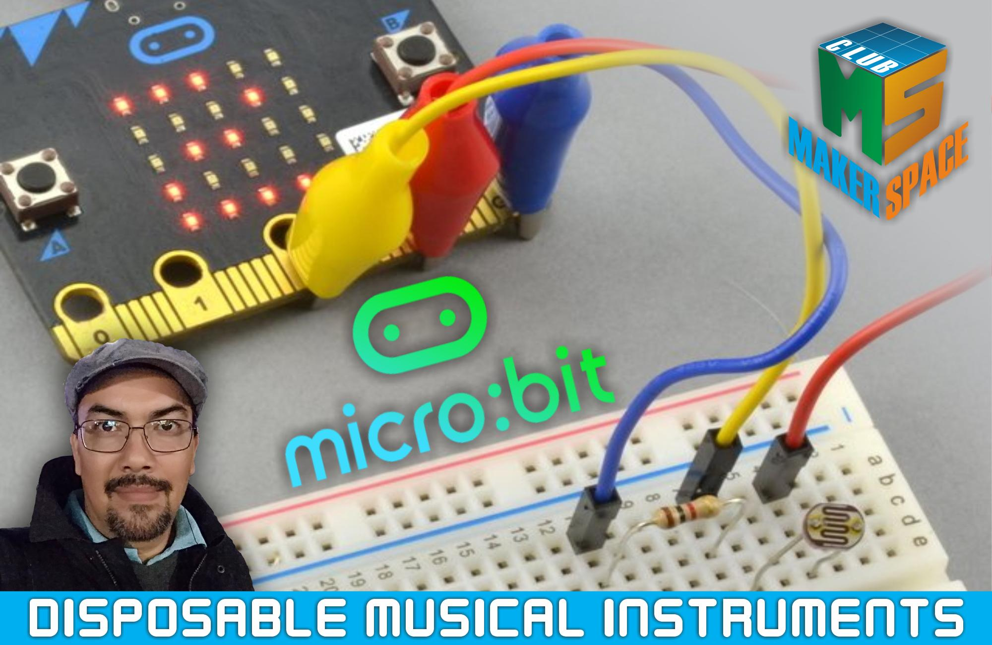 Disposable musical instruments with Micro:Bit