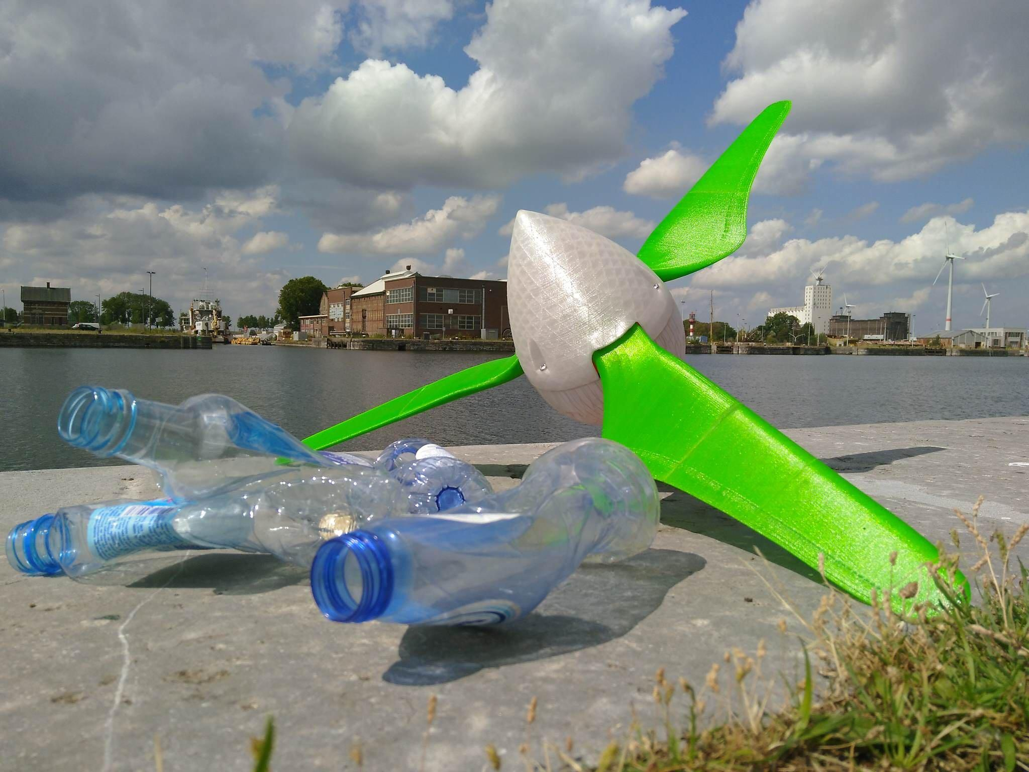 From Waste To Wind - Powerful 3D-printable windturbines made from recycled plastics